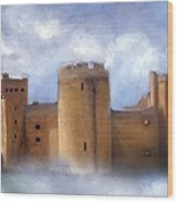 Misty Romantic Scotland Wood Print