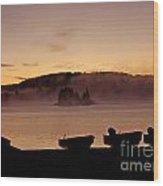 Misty Sunrise At Algonquin Provincial Park  Wood Print