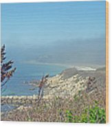 Misty View From Nobska Point - Woods Hole Ma Wood Print