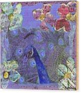 Mixed Media Peacock Art - Gipsy Rondo Wood Print