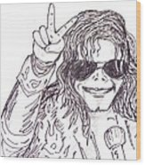 MJ Wood Print by Rajan V