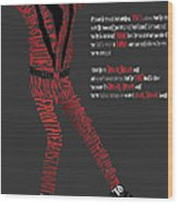 Mj_typography Wood Print by Mike  Haslam