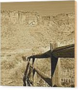 Moab - Sepia Wood Print