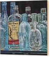 Mob Museum Whiskey Bottles Wood Print