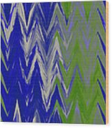 Moda Chevron Pattern IIi Wood Print by Ricki Mountain