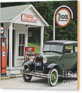 Model A Ford Wood Print by Ted Kinsman