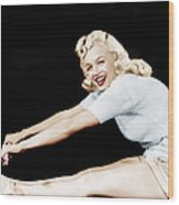 Model And Columbia Starlet Marilyn Wood Print