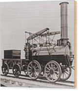 Model Of George Stephensons Successful Wood Print