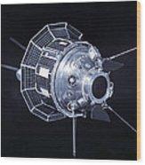 Model Of The Luna 3 Spacecraft Wood Print