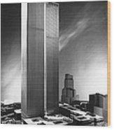 Model Of World Trade Center Wood Print