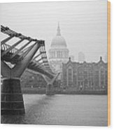 Modern And Traditional London Wood Print