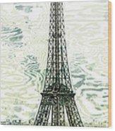 Modern-art Eiffel Tower 12 Wood Print