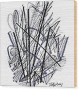 Modern Drawing 112 Wood Print