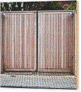 Modern Gate Wood Print