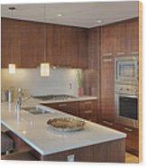 Modern Kitchen Interior Wood Print