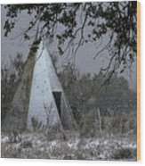 Modern Tepee Wood Print by Fred Lassmann