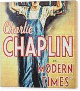 Modern Times, Charlie Chaplin, 1936 Wood Print