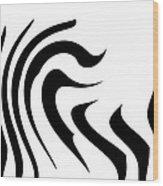 Modern Zebra  Wood Print