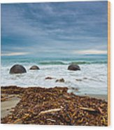 Moeraki Boulder East Coast Of South New Zealand Wood Print