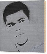 Mohammed Ali Wood Print by Ahmed Mustafa