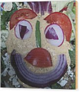 Mohawk Salad Face Wood Print