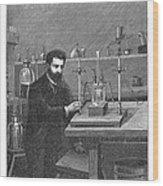 Moissan Isolating Fluorine, 1886 Wood Print