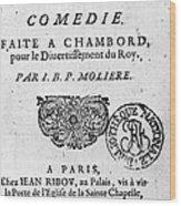 Moliere (1622-1773) Wood Print