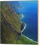 Molokai Coast Wood Print