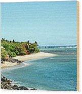 Molokai Shore Wood Print