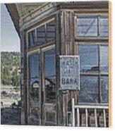 Molson Washington Ghost Town Bank Wood Print