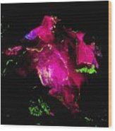Molten Ice - Pink Wood Print by Colleen Cannon