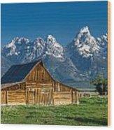 Molton Barn And Grand Tetons Wood Print