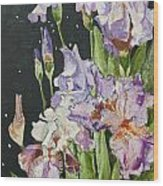 Mom's Night Iris Wood Print