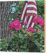 Mom's Pink Geranium  Wood Print