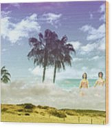Mom's Tropical Dreams Wood Print