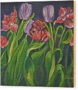 Mom's Tulips Wood Print