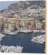 Monaco Harbour Wood Print