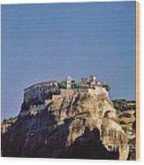 Monastery At Meteora Greece Wood Print