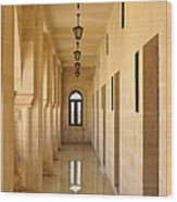 Monastery Passageway Wood Print