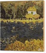 Monet House Wood Print