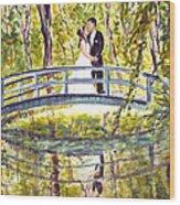 Monet Wedding Wood Print