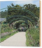 Monets Home And Garden Wood Print