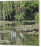 Monets Lilypond - Giverny Wood Print