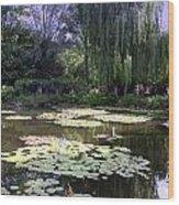Monet's Water Garden Wood Print