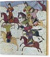 Mongol Battle, C1400 Wood Print