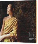 Monk Alex Laos Wood Print