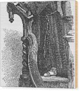 Monk Preaching Wood Print