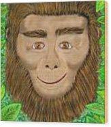 Monkey Wood Print