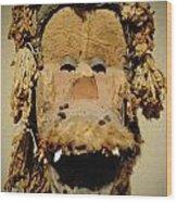 Monkey Of The Tribe Wood Print
