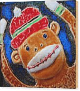 Monkey Sock Around Wood Print